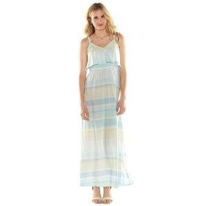 Lauren Conrad Blue Striped Maxi Summer Dress